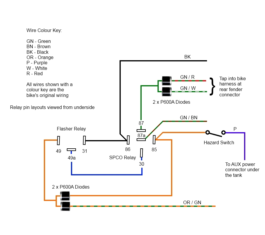 adding hazard indicators triumph forum triumph rat motorcycle 12v Flasher Relay Wiring Diagram this image has been resized click this bar to view the full image 12v flasher relay wiring diagram